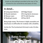 Fingland Annexe Website on Mobile