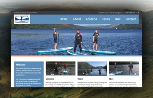 Ullswater Paddleboarding Web Design